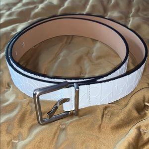 White Calvin Klein Belt